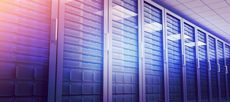 Empty server room. Modern empty server room stock illustration