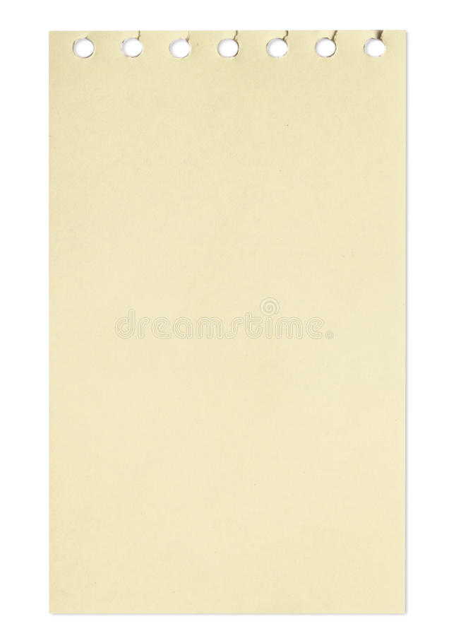 Download Empty Sheet Of Brown Paper From A Notebook Stock Photo - Image of notebook, empty: 15451840