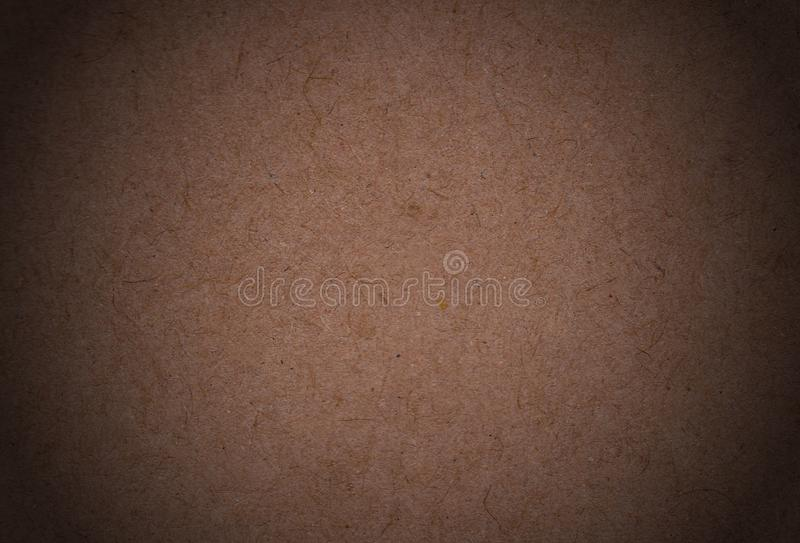 Empty sheet of old turning yellow paper in shadow. Background vector illustration