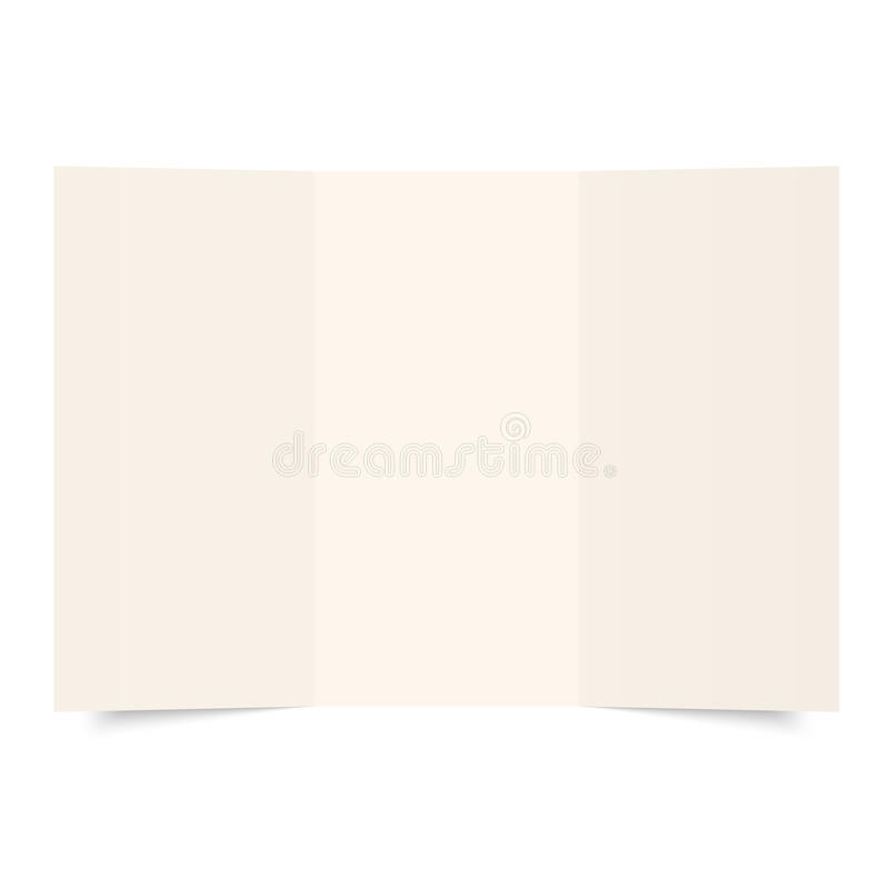 Empty sheet of paper royalty free illustration