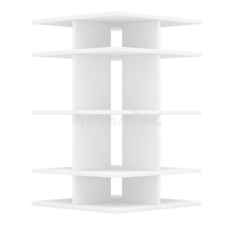 Empty shelf for exhibition. Templated for design. 3D illustration vector illustration