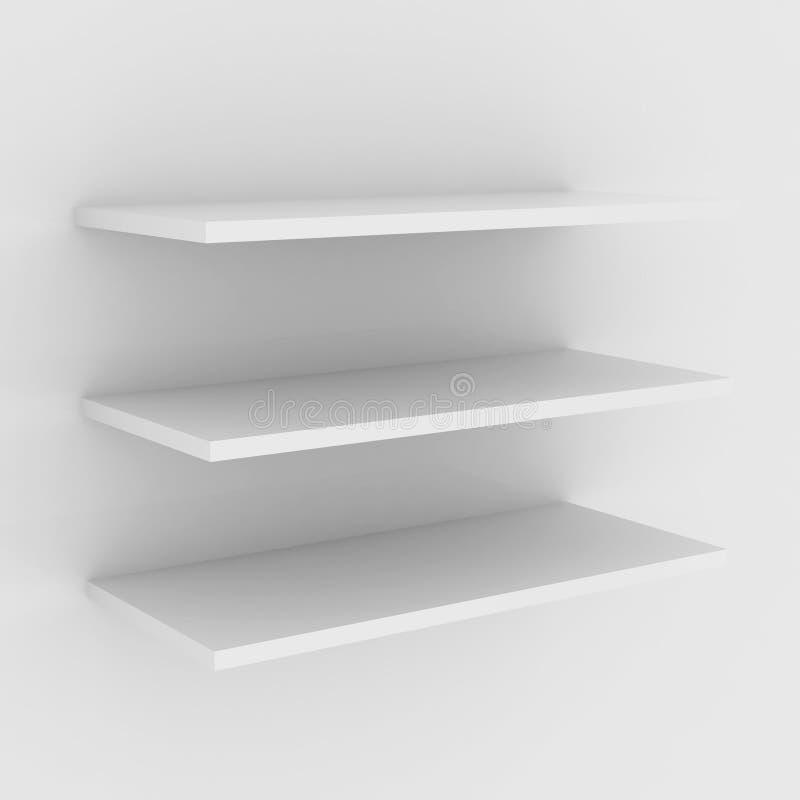 Download Empty shelves stock illustration. Image of exhibit, advertising - 19542801