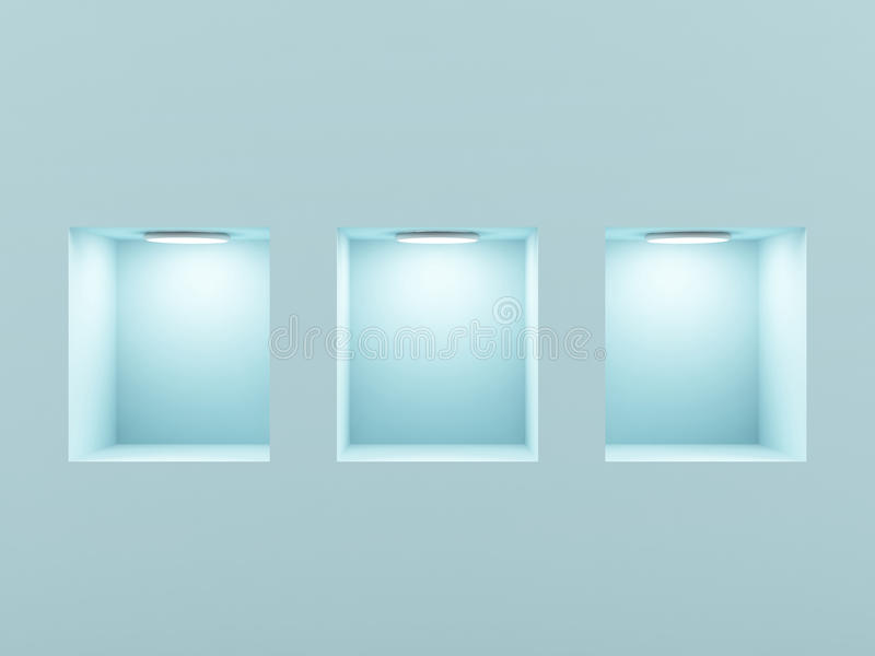 Download Empty Shelves. Stock Image - Image: 22147411
