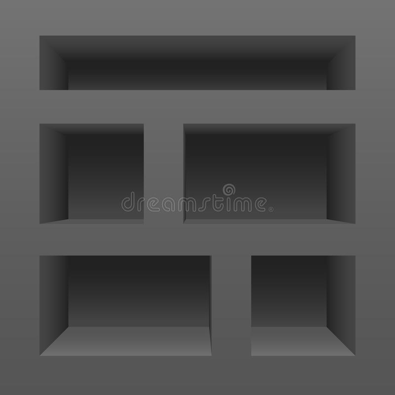 Empty shelves. Clean vector empty shelves stock illustration