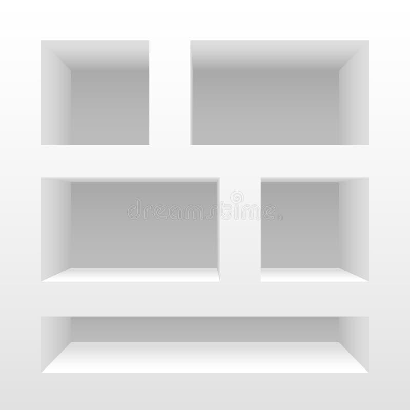Empty shelves. Clean vector empty shelves royalty free illustration