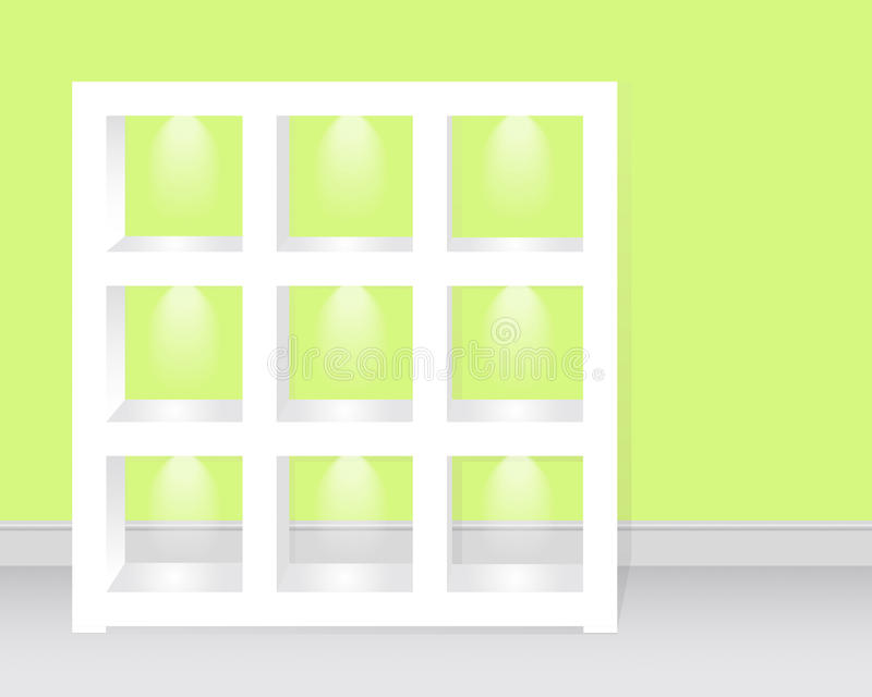 Download Empty Shelves C Backlight. Stock Photos - Image: 24905893