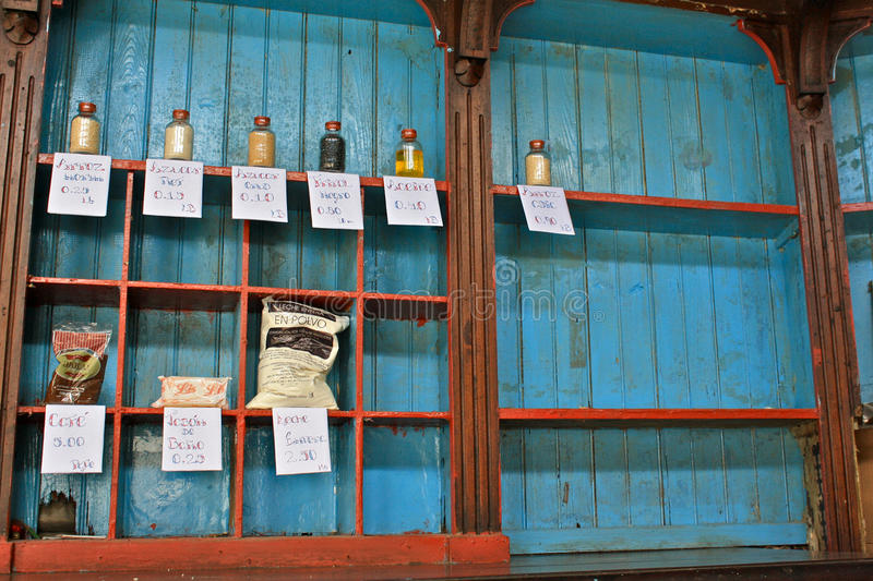 Download Empty Shelves In Cuban Grocery Store Royalty Free Stock Photos - Image: 15980788