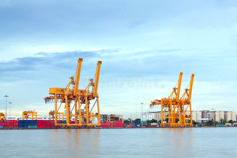 Empty Shipping Port royalty free stock images