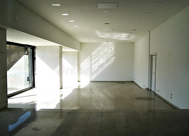 Empty shop. Empty closed shop in Rome due to crisis royalty free stock photography