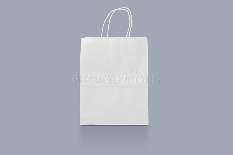 Paper package isolated for corporate identity design. Mockup shopping bag. Shopping bag on background for advertising and brandin royalty free stock images