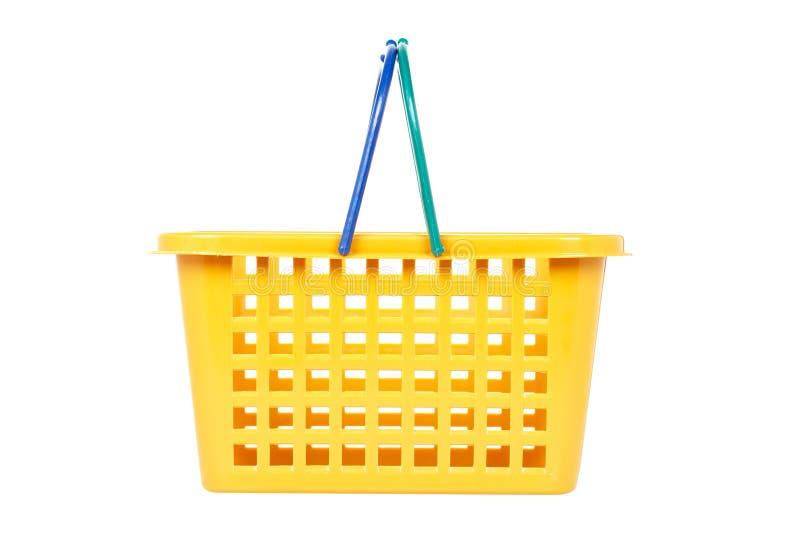 Empty shopping basket royalty free stock photos