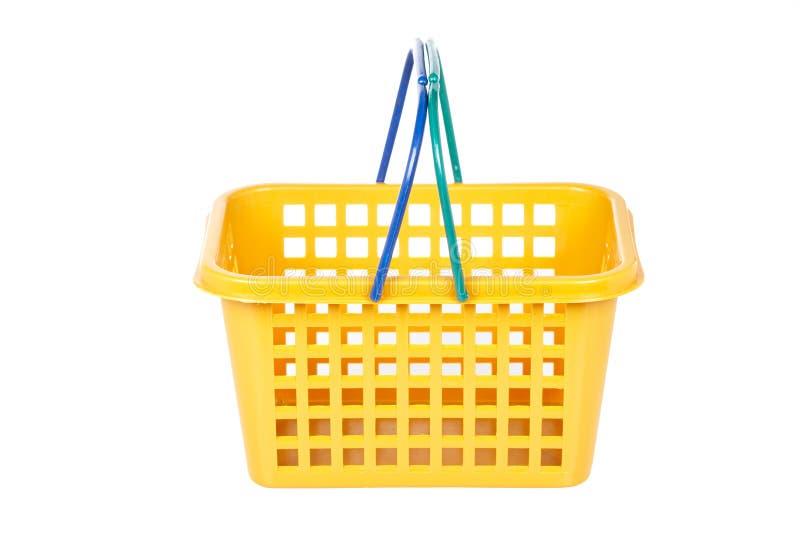 Empty shopping basket stock photo
