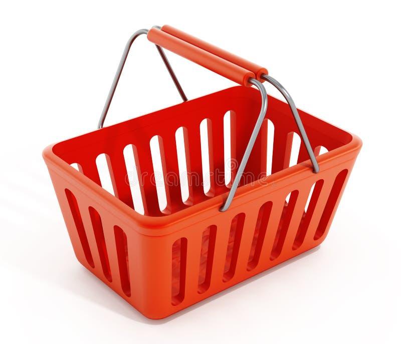 Empty shopping basket vector illustration