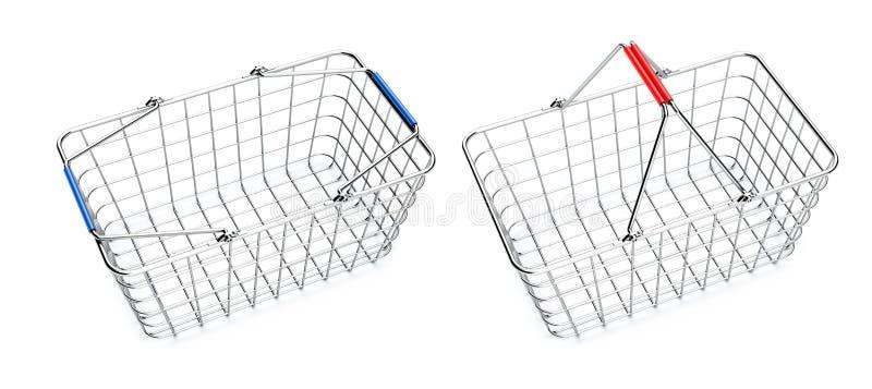 Download Empty shopping baskets stock illustration. Image of details - 23935335