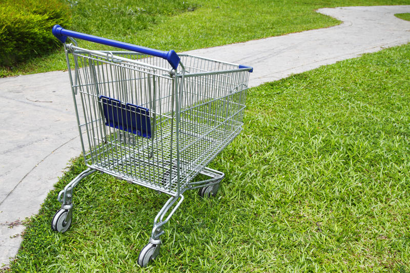 Download Empty shopping cart stock image. Image of outdoors, consumerism - 12695355