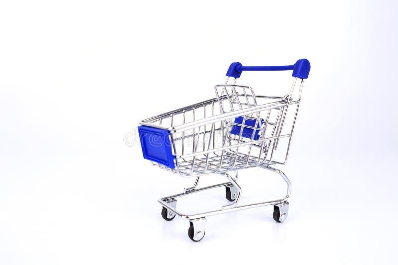 Empty shopping cart Isolated On White background stock images
