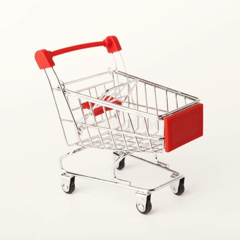 Empty shopping cart isolated on white background royalty free stock image
