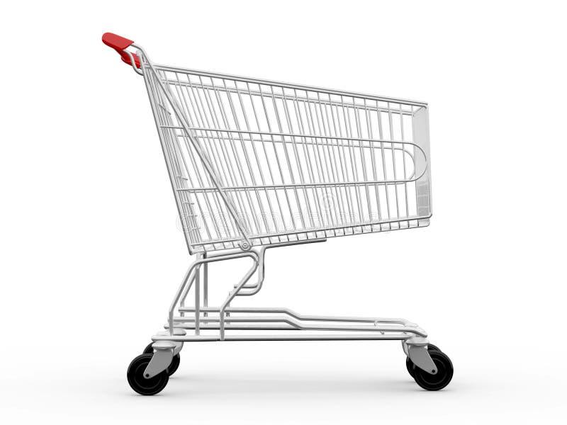 Empty Shopping Cart vector illustration