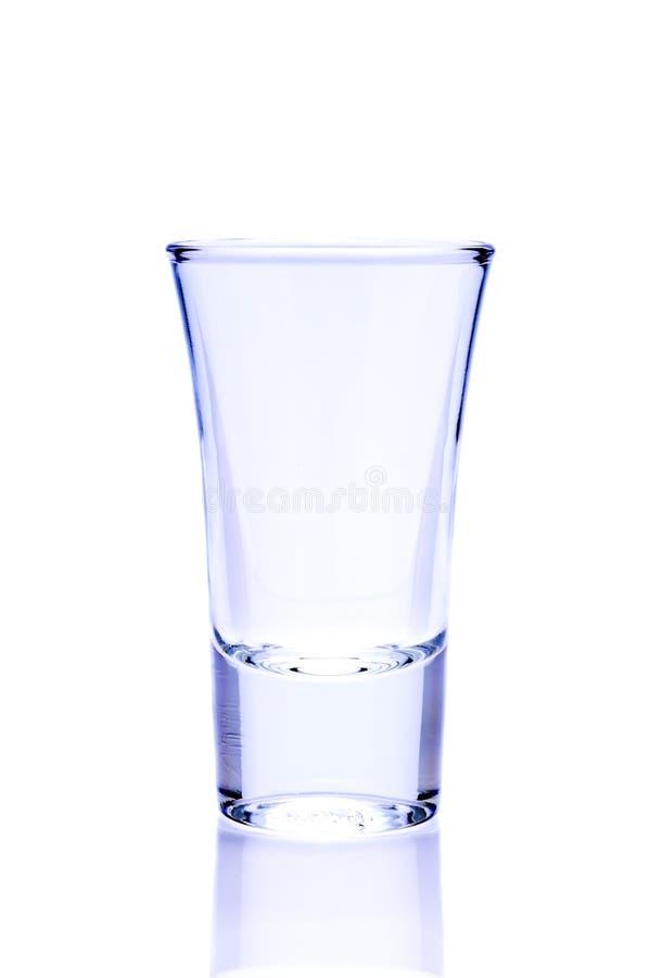Empty shot glass stock photography