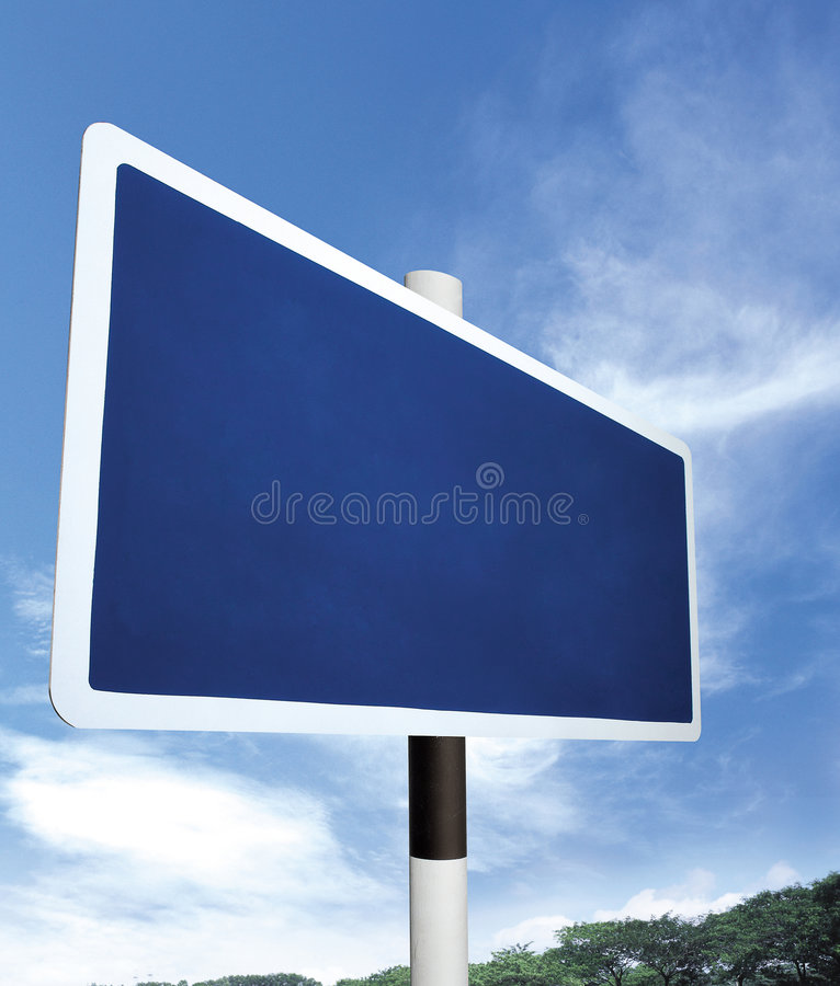 Empty signboard royalty free stock photography