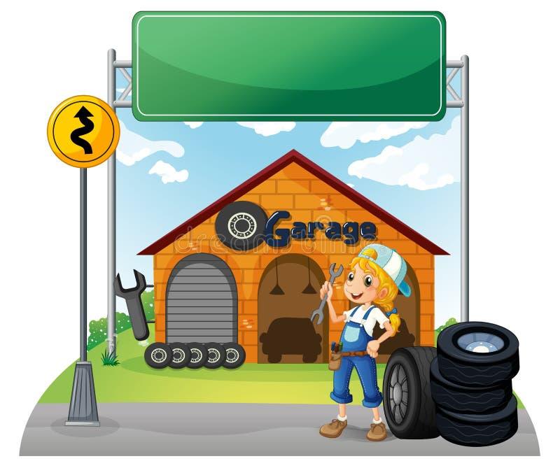 Empty Garage Stock Illustration. Illustration Of Design