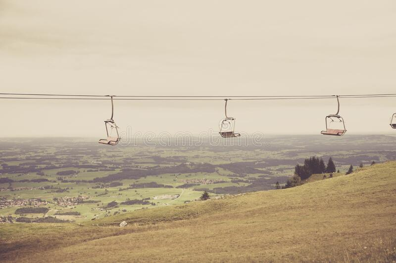 Empty Ski Lift Passing By Mountain During Daytime Free Public Domain Cc0 Image