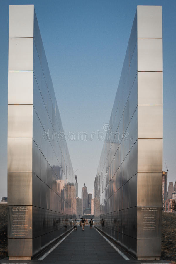 Empty Sky: New Jersey September 11th Memorial royalty free stock photography