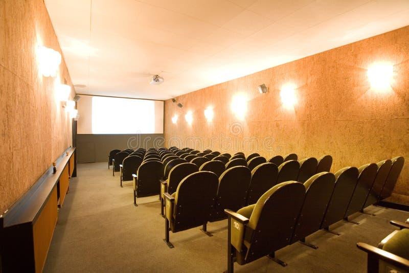 Empty Small Cinema Auditorium Royalty Free Stock Image