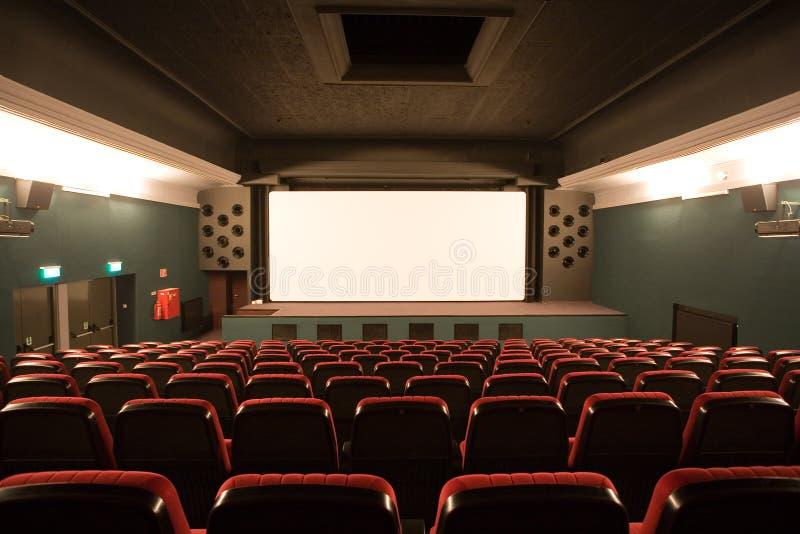 Empty small cinema auditorium royalty free stock photography
