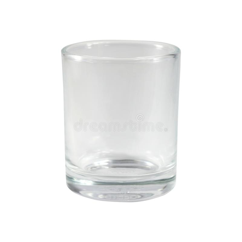 Empty small glass isolated on white background, selective focus stock illustration