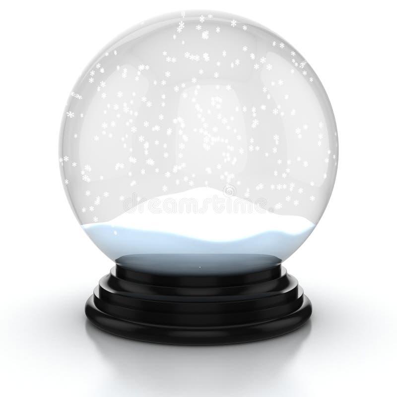 Empty snow dome stock image