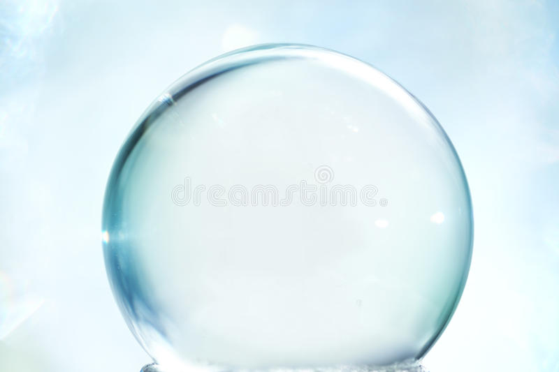 Empty snow globe stock photo