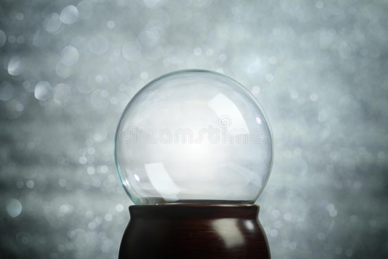 Empty snow globe Christmas stock photo