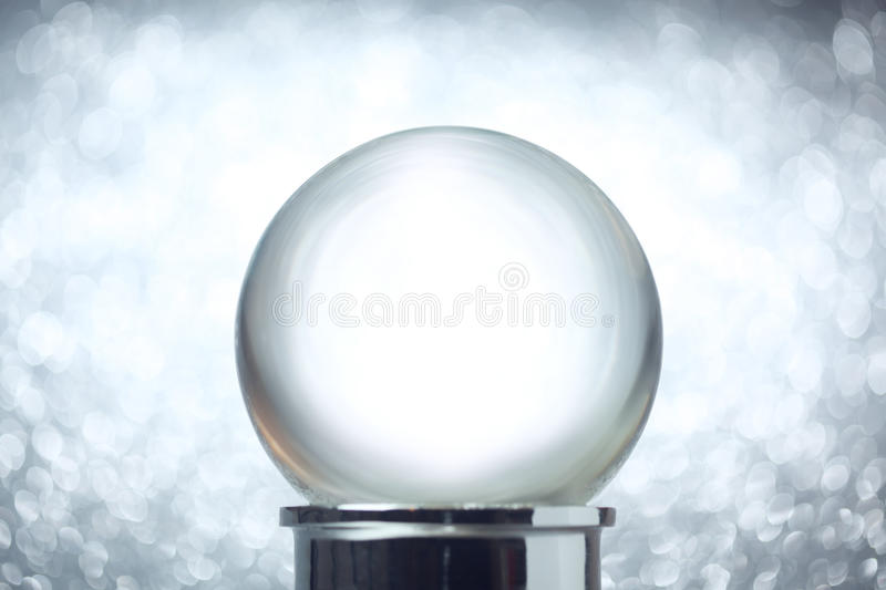 Empty snow globe royalty free stock photography