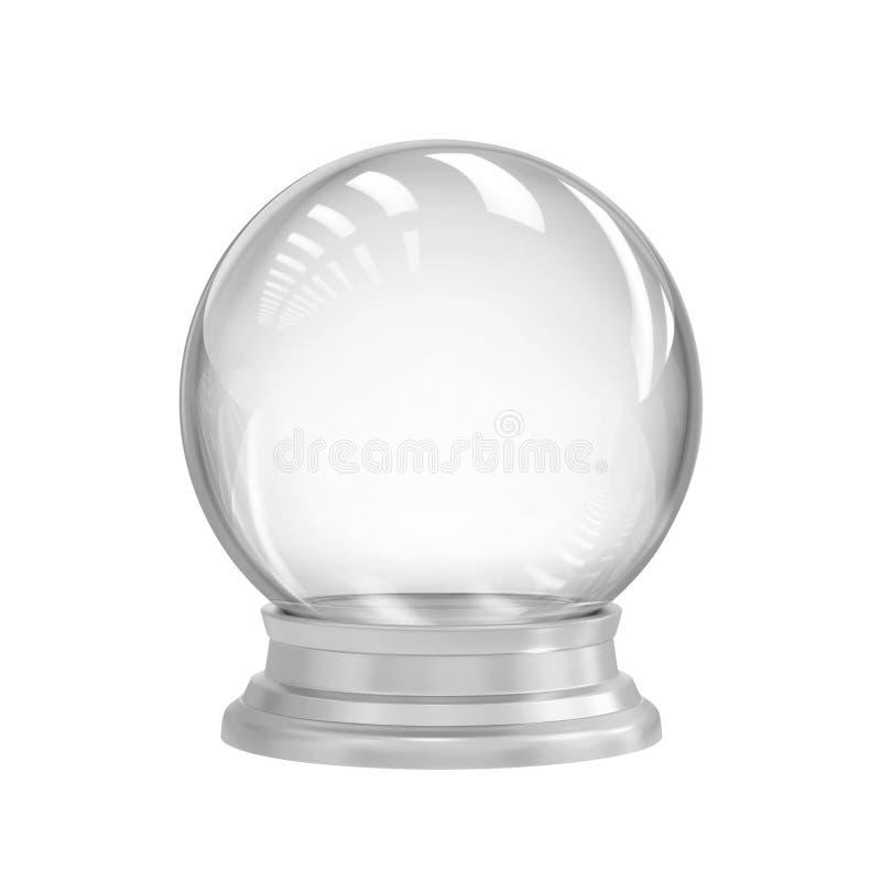 Empty snow globe stock illustration