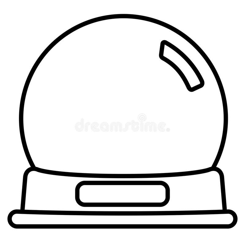 Empty Snow globe vector illustration