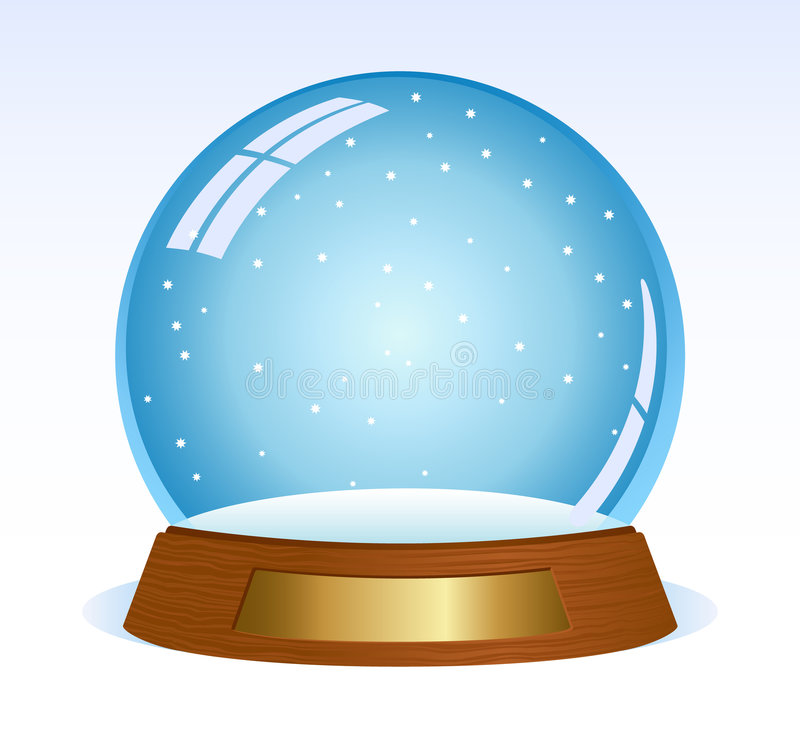 empty snowglobe stock vector illustration of gift snow 8115805 rh dreamstime com snow globe clipart black and white snow globe clipart black and white