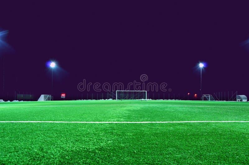 Empty soccer field royalty free stock photos