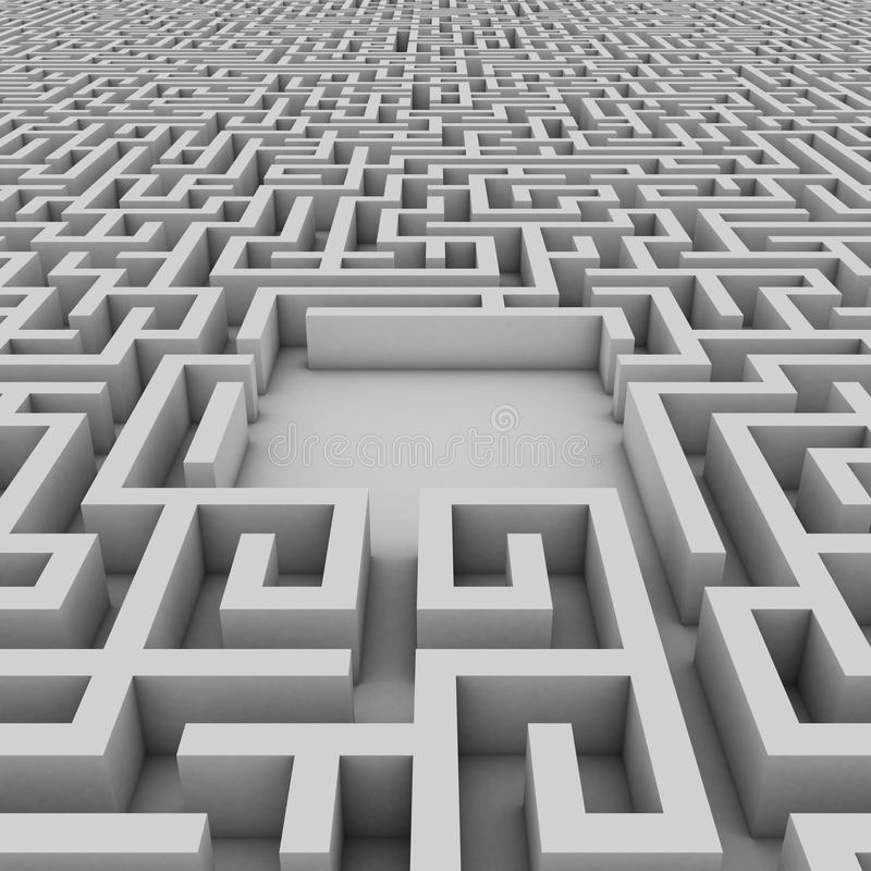 Empty space in the endless maze vector illustration