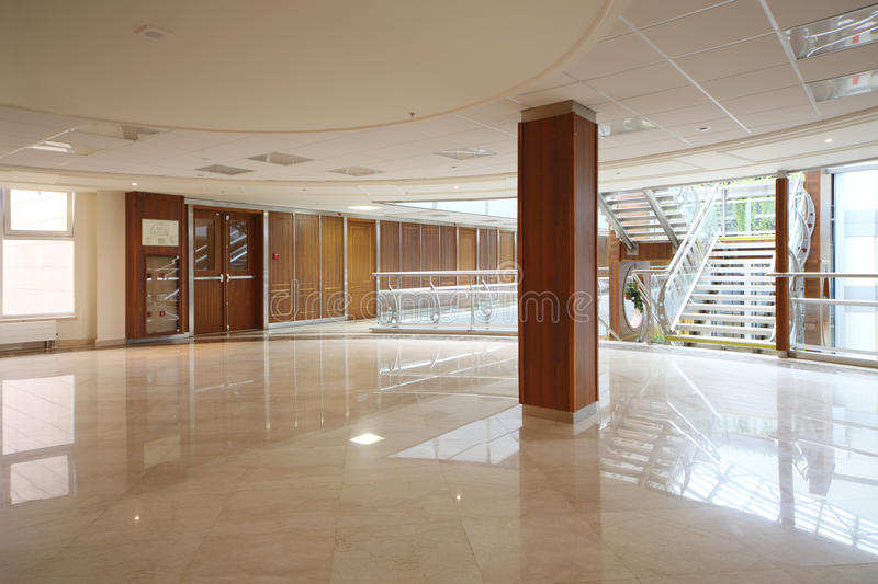 Empty spacious and light hall in MGIMO stock photography
