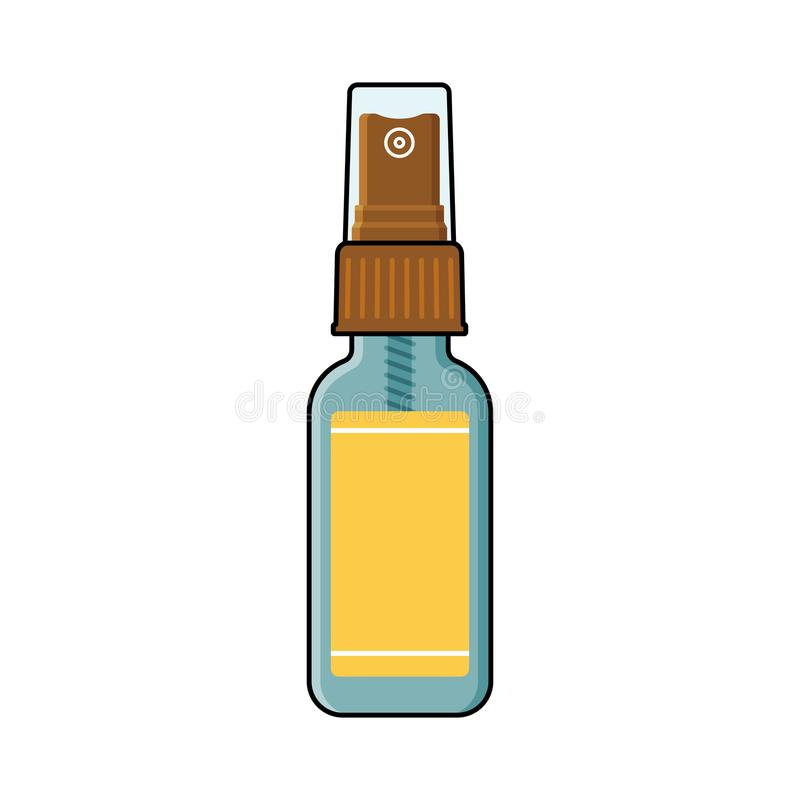 Free Empty Spray Bottle With Plastic Cap, Blank Label Stock Photos - 113350383