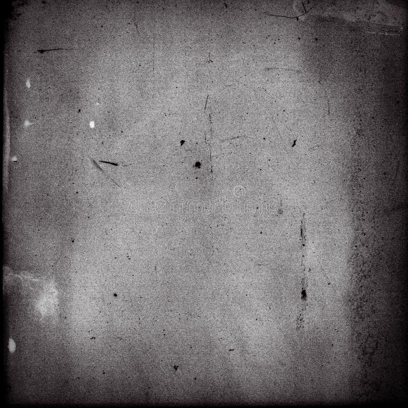 Empty square black and white film frame with heavy grain stock images