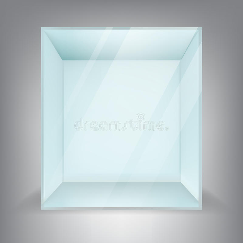 Download Free Mock Up Exhibition Stand : Empty square glass box stock vector image
