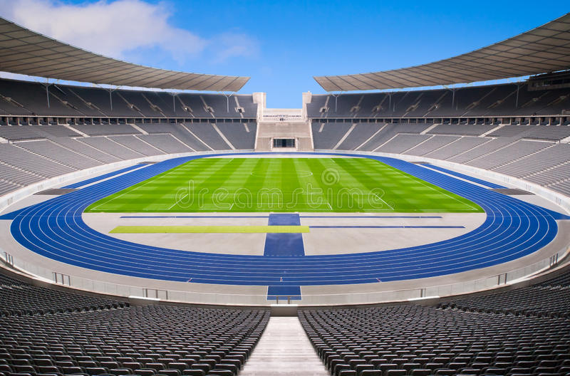 Empty stadium stock photography