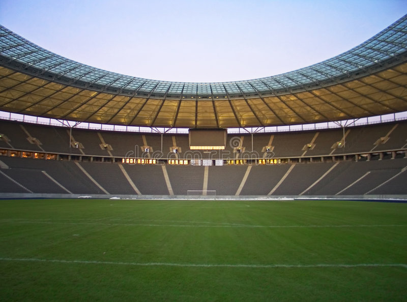 Empty stadium. Olympic stadium in Berlin, Germany .raw file is available
