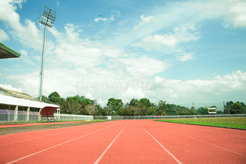 Empty stadium arena and race running royalty free stock photo