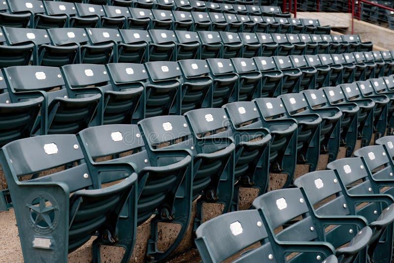 Empty Stadium Seats stock image