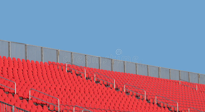 Download Empty Stadium Seats And Sky Stock Photo - Image of railing, seats: 26813758