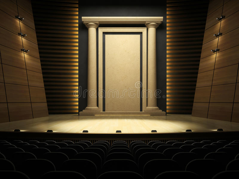 Download Empty stage stock illustration. Image of scaffold, broadway - 15260922