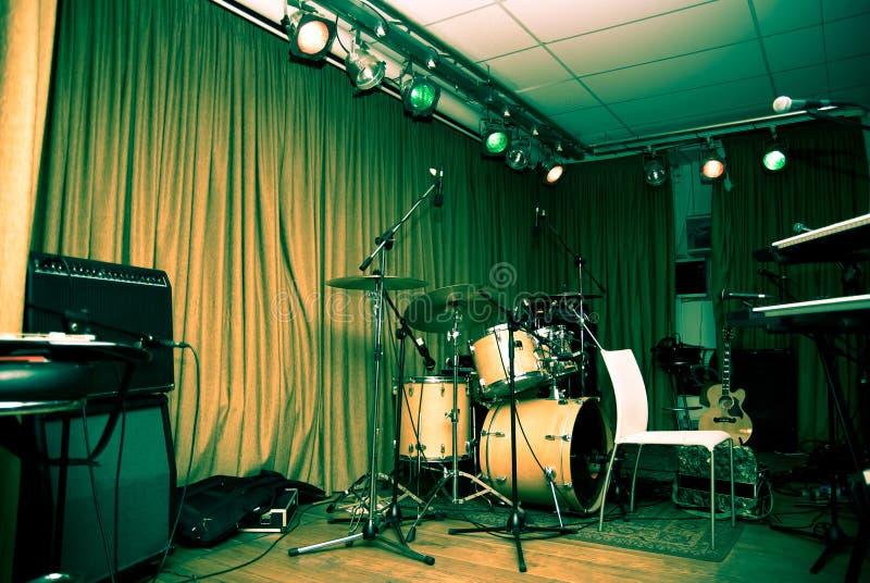 Empty stage stock photos